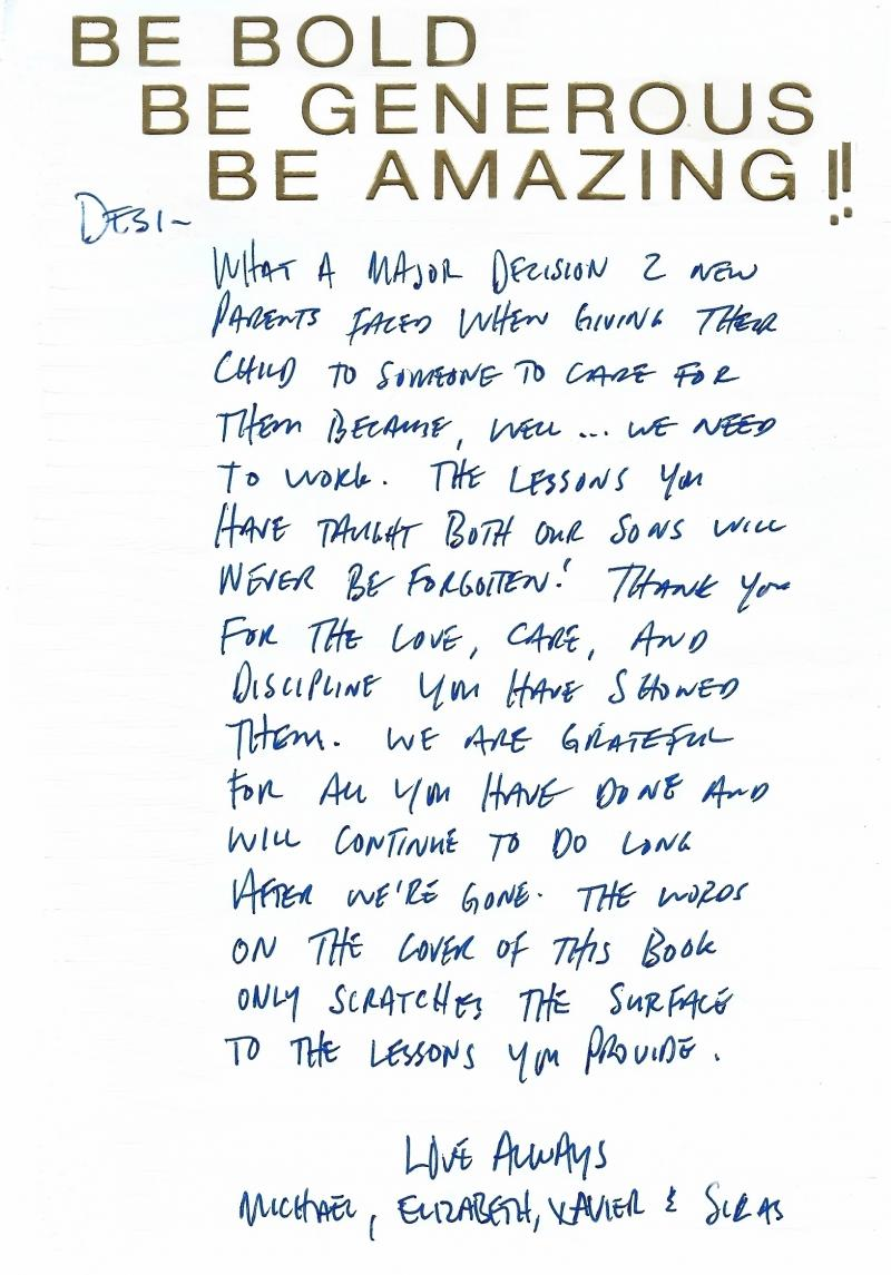 thank you letter for reference